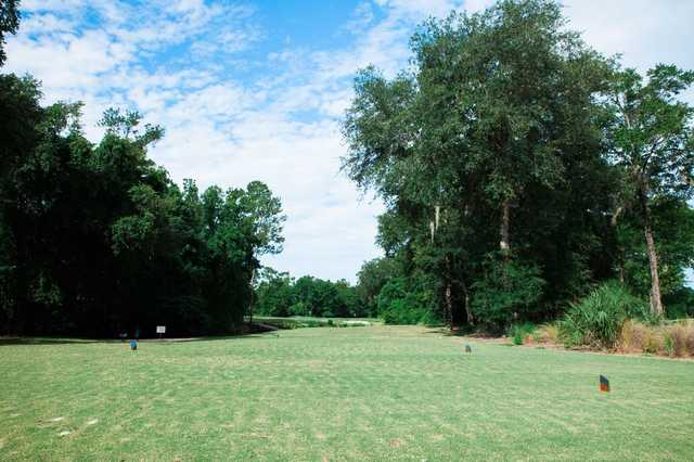 A view o a tee at the Golf Club At Fleming Island