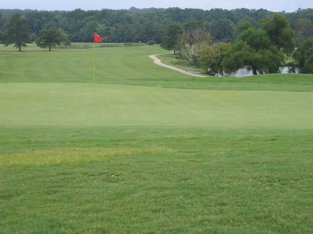 A view of a hole at Browns Mill Golf Course