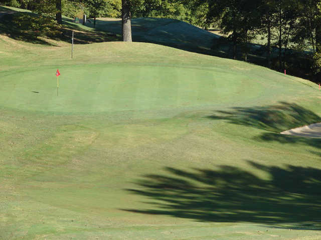 A view of hole #12 at Clarksville Country Club