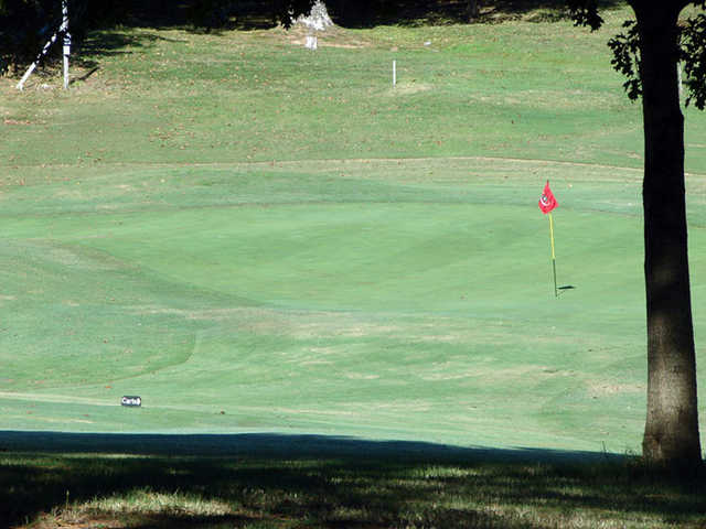 A view of green #10 at Clarksville Country Club