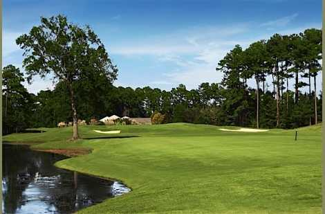 A view from fairway at River Oaks Golf Club