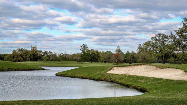 Bunkered greeen at Audubon Park Golf Course