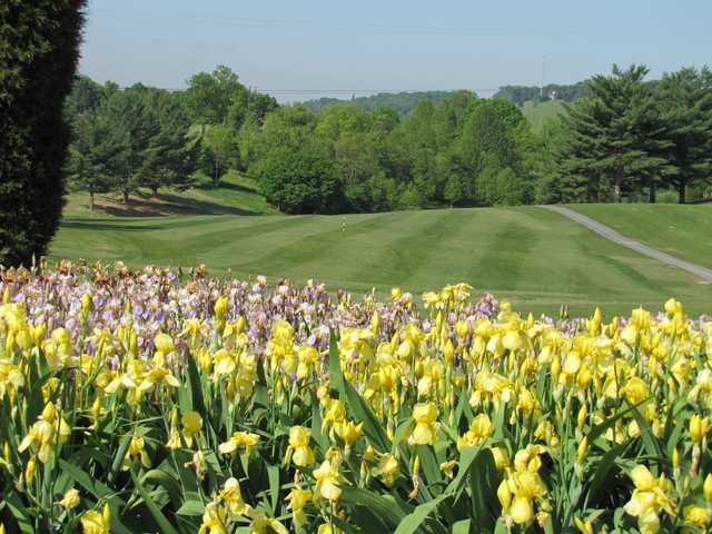 A view of the 18th fairway at Warriors' Path Golf Course