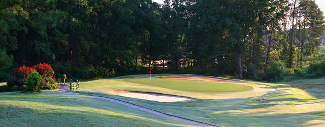 A view of a green at Milledgeville Country Club