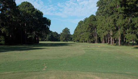 A view of a tee at Mary Calder Golf Club