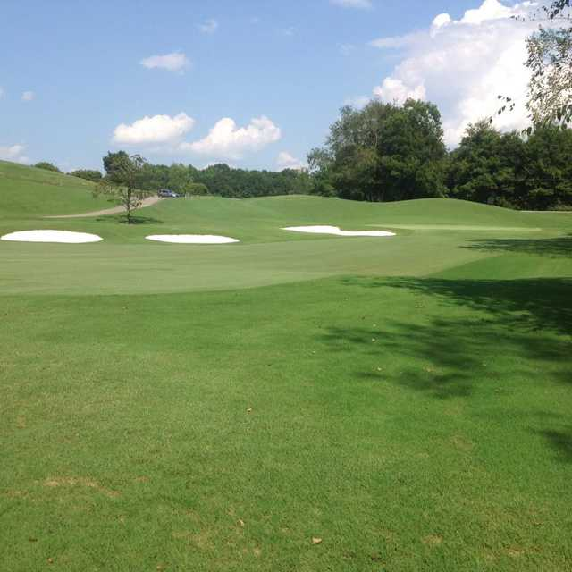 A view of the 1st green from Walker Golf Course At Clemson University