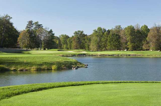 A view of hole #17 at RTJ II Course from The Golf Club at Lansdowne