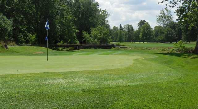 A view of a hole at Reading Country Club