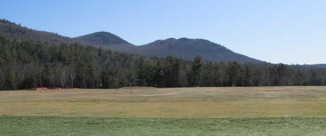 A view of the driving range at Saranac Lake Golf Club