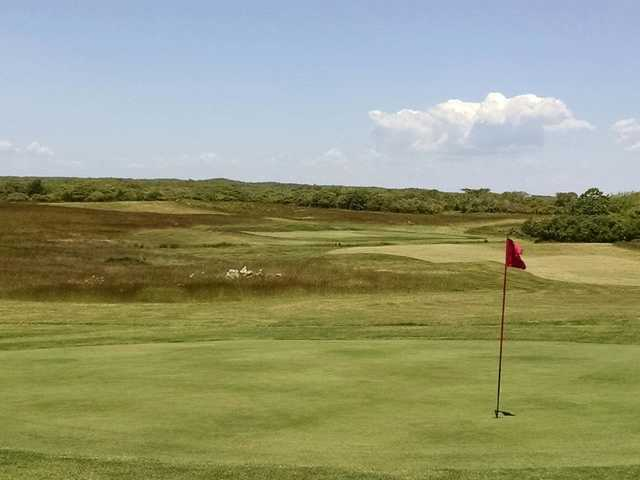 A view of a hole at Siasconset Golf Course