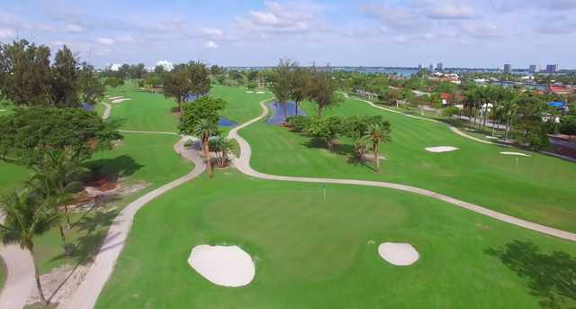 View of the 14th green at Normandy Shores Golf Course