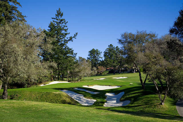 View of the 15th hole at Pasatiempo Golf Club