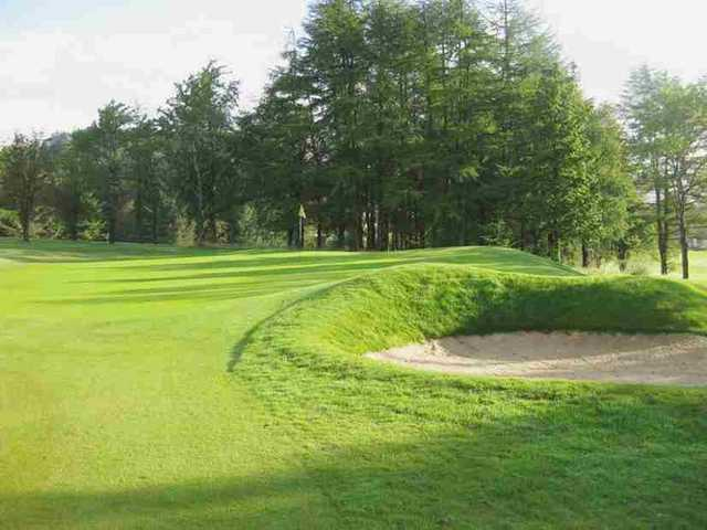 View of the 14th green at Caldwell Golf Club