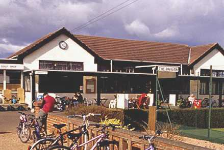 A view of the clubhouse at Elie Sports Club