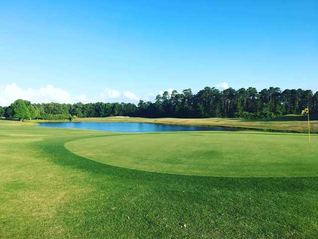 View of the 1st green at The Country Club of Mount Dora