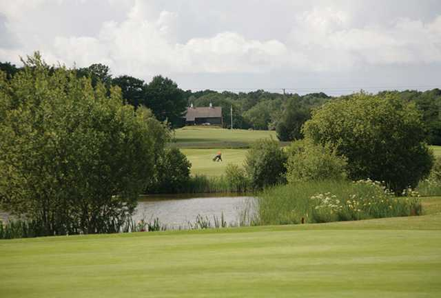 A view over the water from Crane Valley Golf Club