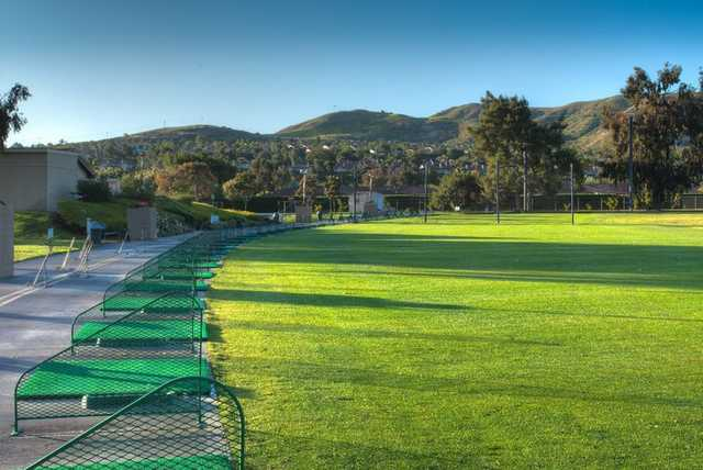 A view from the driving range at San Juan Hills Golf Club