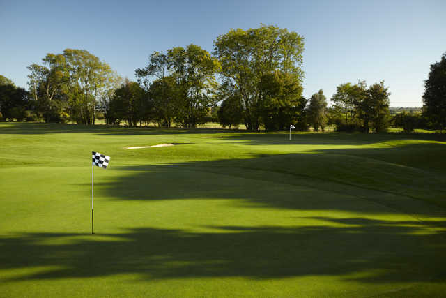 A view of the 12th and 14th holes at Park Course from Goodwood Golf Club