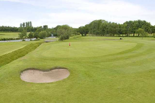 A view of hole #1 at Hurlston Hall Golf Club