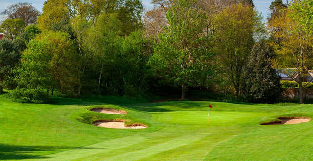 A view of the 15th green at Marriott Tudor Park Country Club