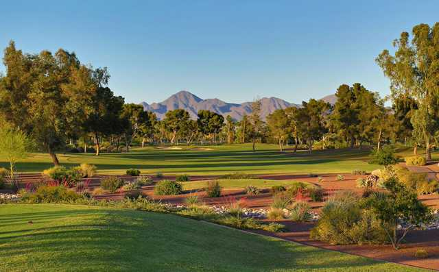 View of the 10th green from the Pine course at McCormick Ranch GC