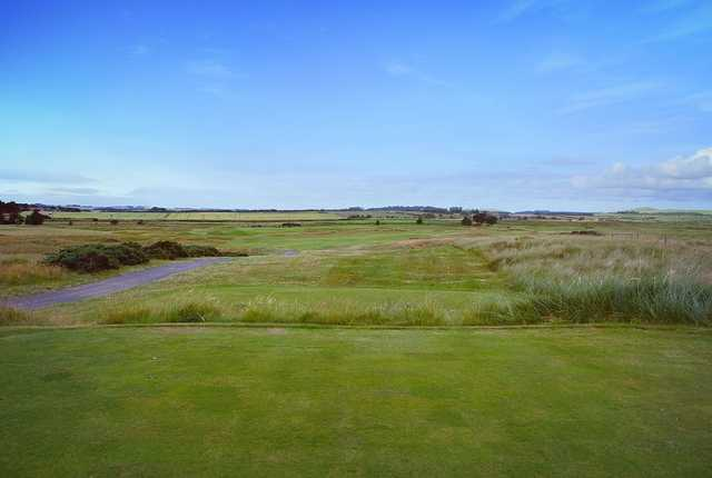 A view from tee #3 at Goswick Golf Club.