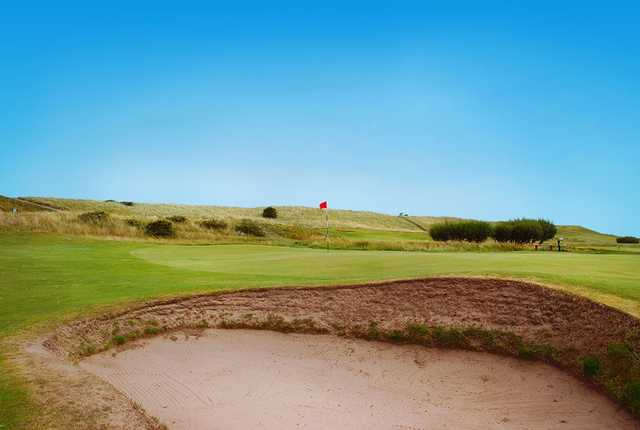 A view of the 11th hole at Goswick Golf Club.