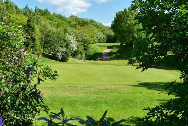 A sunny day view from Bishop Auckland Golf Club
