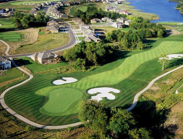 Aerial view from Creekmoor Golf Club