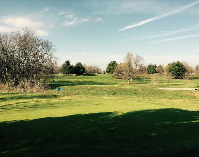 A view of a green at Frankfort Commons Golf Course