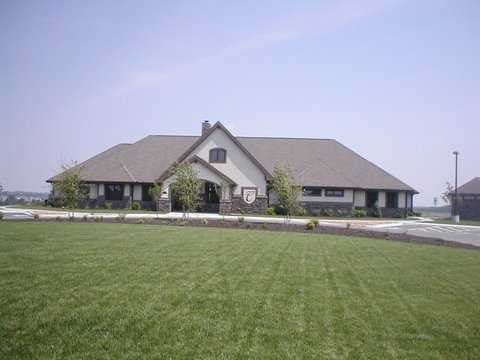 A view of the clubhouse at Creekmoor Golf Club