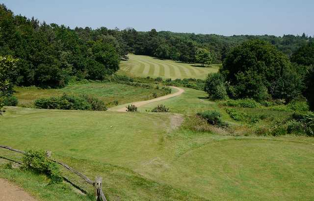 A view from a tee at Crowborough Beacon Golf Club