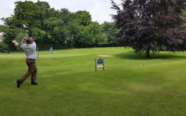 A view of a tee at Eaton Golf Club