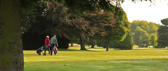 A sunny day view of a fairway at Exeter Golf & Country Club