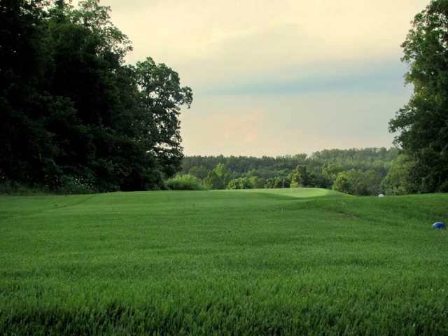 A view of green #8 at Viburnum Golf & Country Club