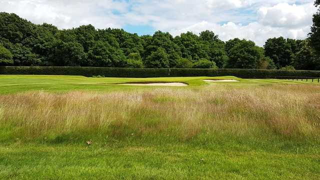 A view of the well protected hole #4 at Mid Herts Golf Club