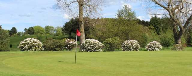 A spring day view of a hole at Morpeth Golf Club