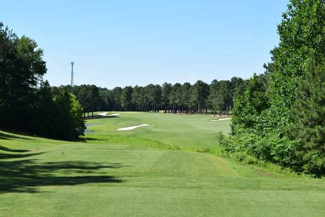 View of the 1st fairway and tee from the Championship course at Independence Golf Club