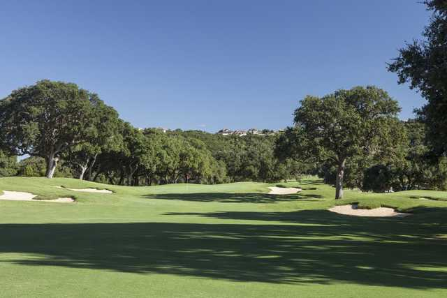 View of a green from Tapatio Springs Hill Country Resort