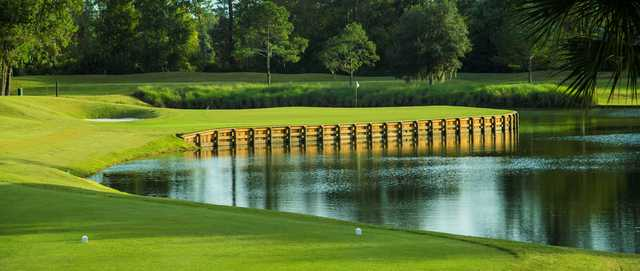 5th green on the Dye's Valley at TPC Sawgrass