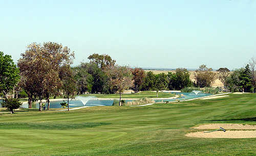 A view of hole #18 atTracy Golf & Country Club