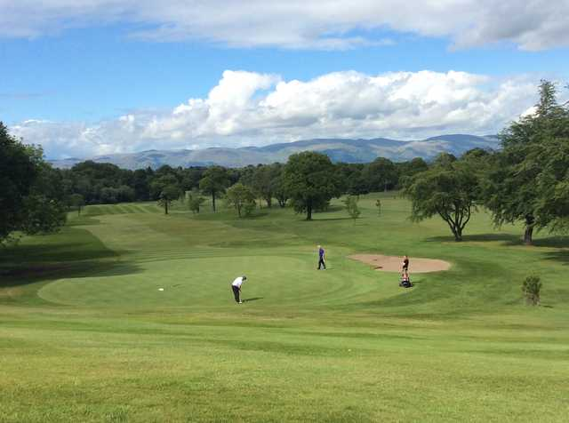 A view of the 14th green at Glenbervie Golf Club
