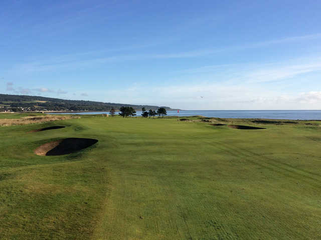 A view of the 13th green at Golspie Golf Club