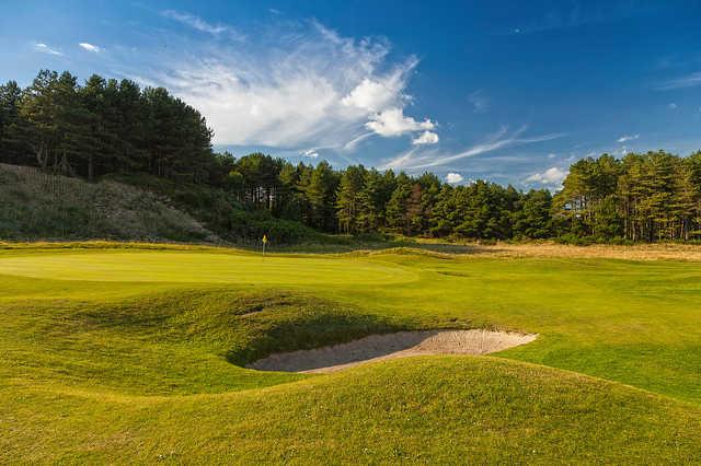 A view of green #9 at Royal St. David's Golf Club