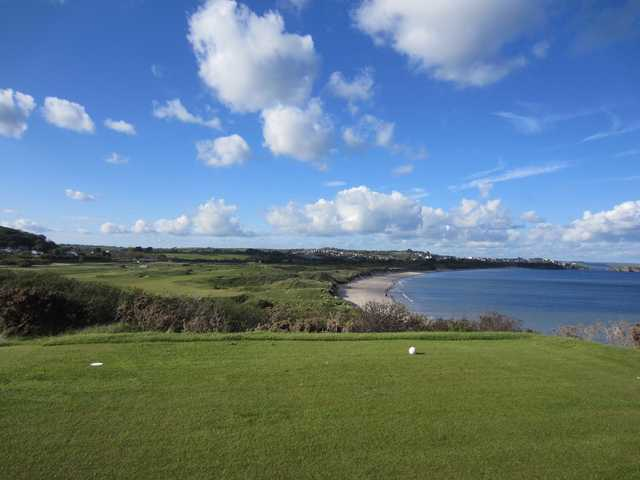 A view from a tee at Tenby Golf Club