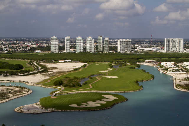 Aerial view from Puerto Cancun Golf Club