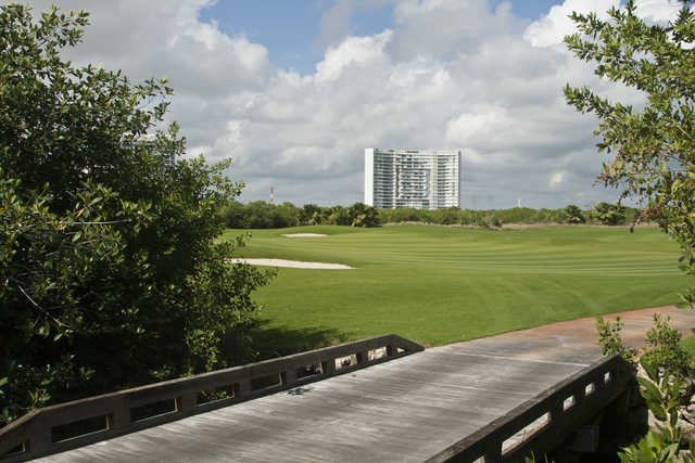 View of a green at Puerto Cancun Golf Club