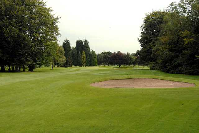 View of the finishing hole at Davyhulme Park Golf Club