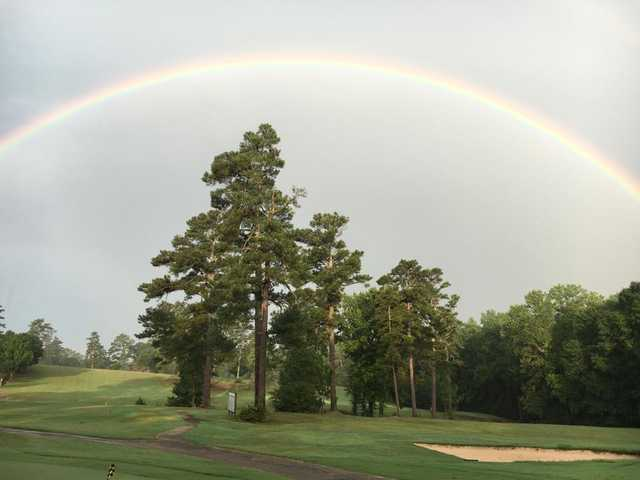A rainbow over Forsyth Golf Club