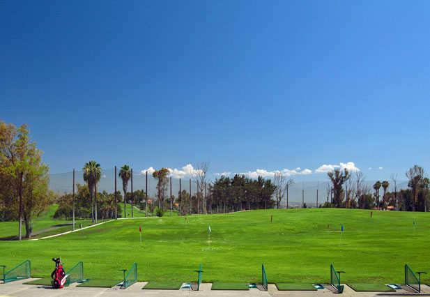 A view of the driving range at Los Angeles Royal Vista Golf Club